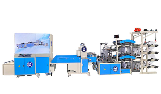 1600 pcs/min T-shirt Bag Making Machine+Auto Packing Folding Machine All In 1 System
