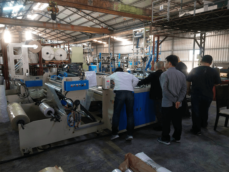 SAKAI CHEMICAL INDUSTRY CO.,LTD from Japan once again ordered LDPE bottom sealing machine ordered from Dipo Plastic Machinery Factory.
