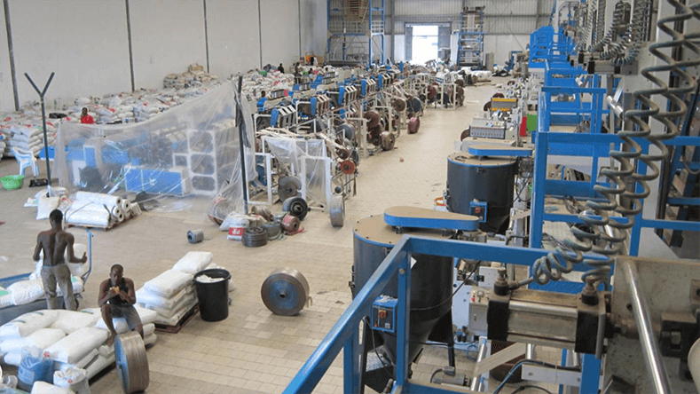 Dipo hand bag machines in Africa.