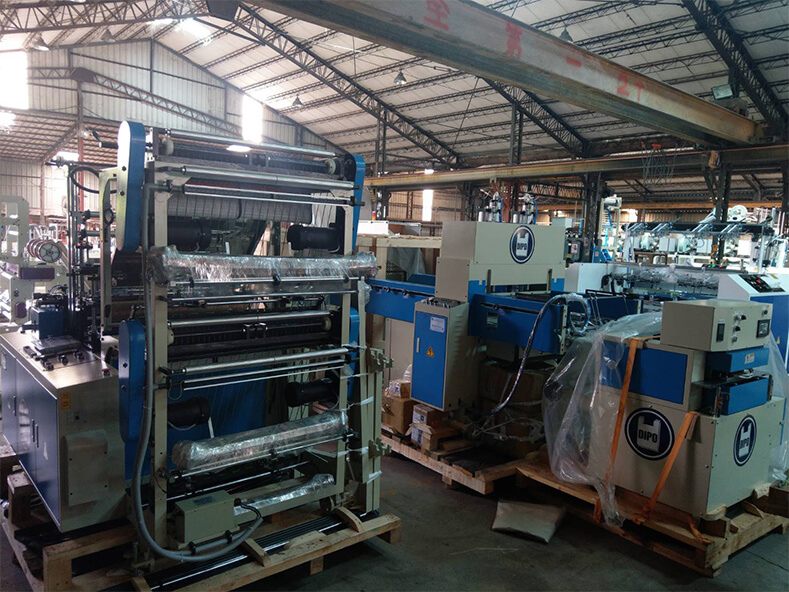 Professional production factory of plastic shopping bag purchase DIPO plastic machinery due to the order of plastic shopping bags increases.