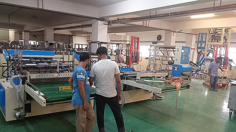 Bangladesh - Has now changed their whole production line change to DIPO full servo bag making machines.